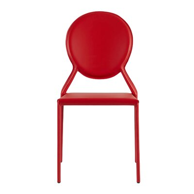 Hanner Stacking Upholstered Dining Chair Upholstery: Red