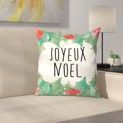 Jetty Printables Joyeux Noel Throw Pillow Size: 14 x 14