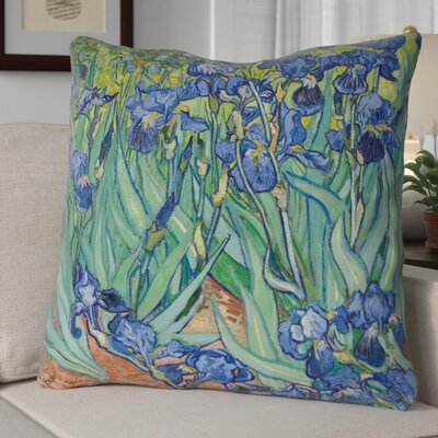 Morley Irises Square Euro Pillow Color: Blue