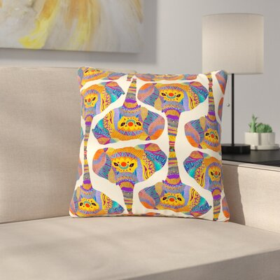 Pom Graphic Design Elephant Play Animal Print Outdoor Throw Pillow Size: 16 H x 16 W x 5 D