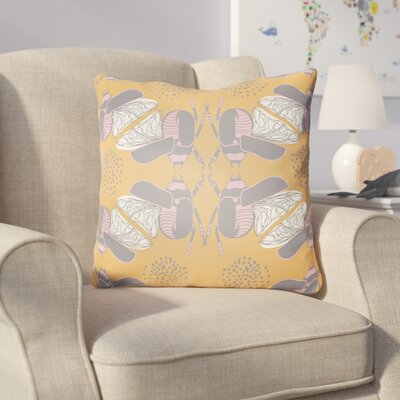 Colindale Square Throw Pillow Size: 20 H x 20 W x 4 D, Color: Orange