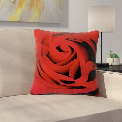 Suzanne Carter Floral Photography Outdoor Throw Pillow Size: 18 H x 18 W x 5 D