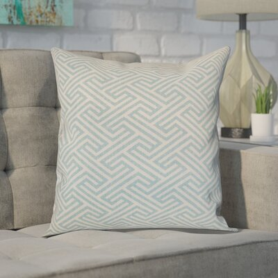 Alcala Geometric Cotton Throw Pillow Color: Sky Blue, Size: 18 H x 18 W