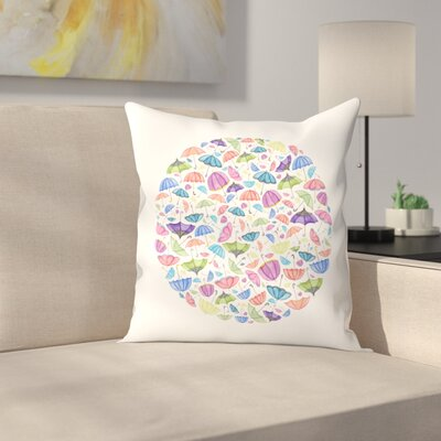 Elena ONeill Umbrella Circle Throw Pillow Size: 16 x 16