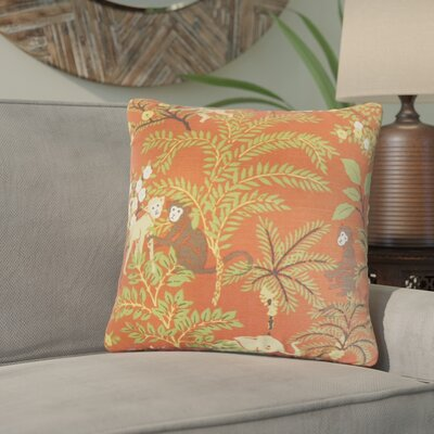 Zaid Foliage Cotton Throw Pillow Color: Spice