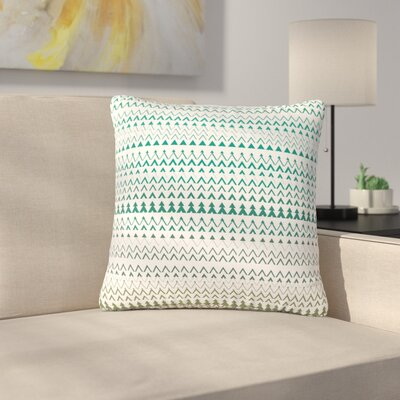 Bridgette Burton Revel Chevron Outdoor Throw Pillow Color: Teal, Size: 16 H x 16 W x 5 D