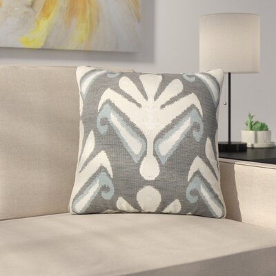 Jarosz Sullins Ikat Throw Pillow Color: Stone