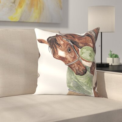 Elena ONeill Mans Best Friend Throw Pillow Size: 18 x 18