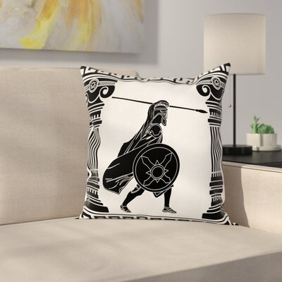 Warrior Ready Attack Square Cushion Pillow Cover Size: 16 x 16