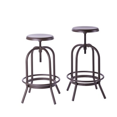 Costantino Adjustable Height Swivel Bar Stool
