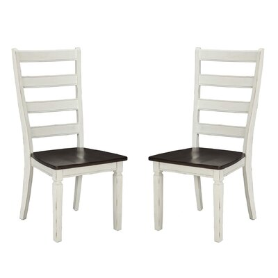 Marchan Solid Wood Dining Chair (Set of 2) Color: White