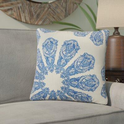 Christy Ikat Cotton Throw Pillow Color: Lapis