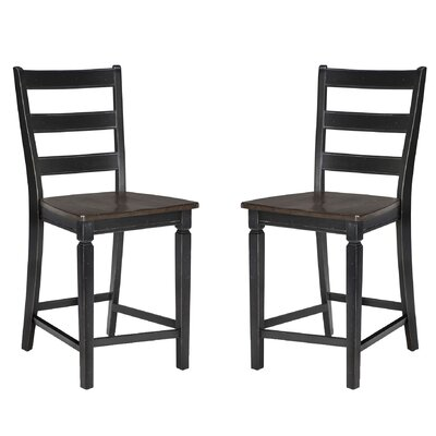 Marchan Adjustable Bar Stool (Set of 2) Color: Black