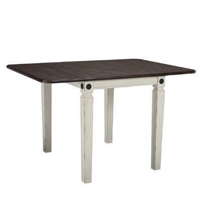 Marchan Drop Leaf Dining Table Base Color: White