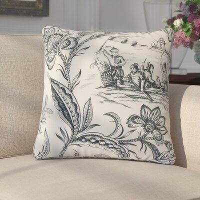 Benedetta Toile Cotton Throw Pillow