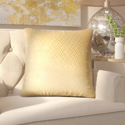 Pawel Solid Down Filled Throw Pillow Size: 24 x 24, Color: Gold