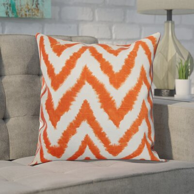 Dawkins Cotton Throw Pillow Color: Tangelo, Size: 18 H x 18 W