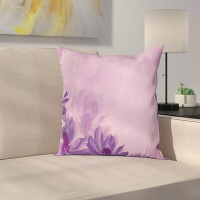 Anemone Dreamy Blossoms Square Cushion Pillow Cover Size: 24 x 24