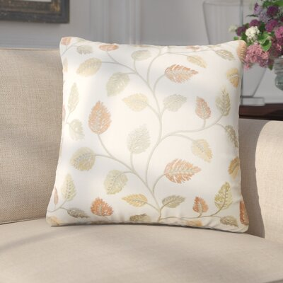 Giomar Floral Cotton Throw Pillow Color: Amber