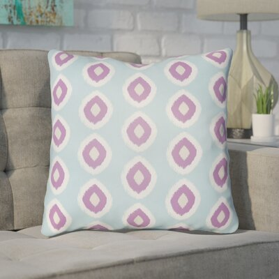 Malachi Circles Indoor/Outdoor Pillow Cover Size: 18 H x 18 W x 3.5 D, Color: Light Blue/Pink