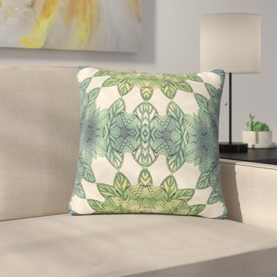 Art Love Passion Forest Leaves Celtic Abstract Outdoor Throw Pillow Size: 16 H x 16 W x 5 D