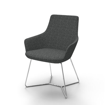 Huertas Metal Base Mini Lounge Chair Seat Color: Charcoal
