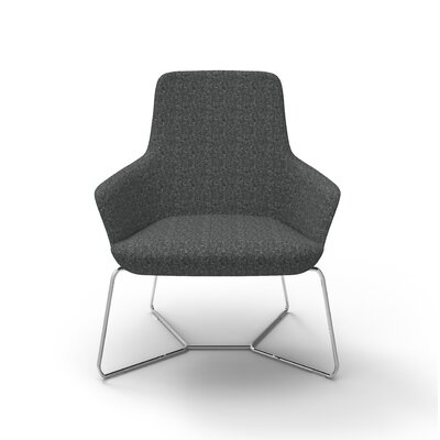 Superkool Metal Base Lounge Chair Seat Color: Charcoal
