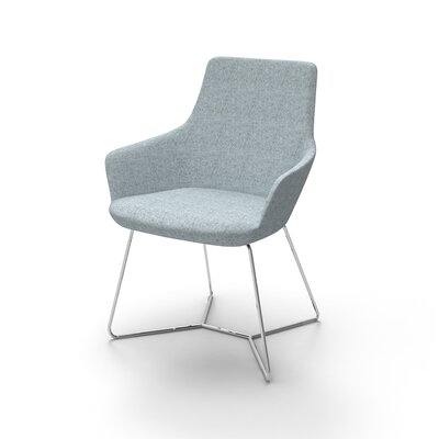 Huertas Metal Base Mini Lounge Chair Seat Color: Light Blue