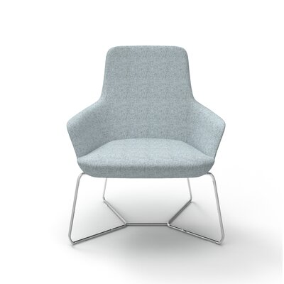 Huertas Metal Base Lounge Chair Seat Color: Light Blue