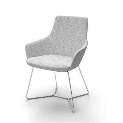 Huertas Metal Base Mini Lounge Chair Seat Color: Light Gray