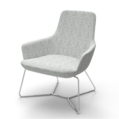 Superkool Metal Base Lounge Chair Seat Color: Light Gray