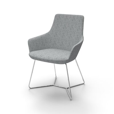 Huertas Metal Base Mini Lounge Chair Seat Color: Medium Gray