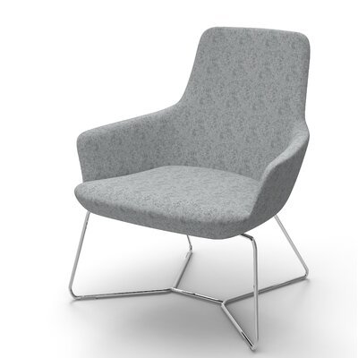 Huertas Metal Base Lounge Chair Seat Color: Medium Gray