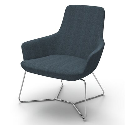 Huertas Metal Base Lounge Chair Seat Color: Navy