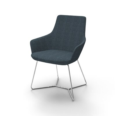 Huertas Metal Base Mini Lounge Chair Seat Color: Navy