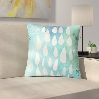 Li Zamperini Rain Outdoor Throw Pillow Size: 16 H x 16 W x 5 D