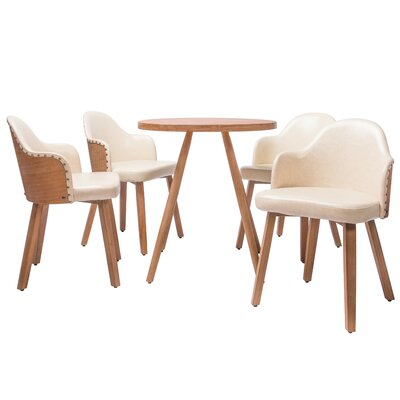 Lindell�5 Piece Dining Set Color: White