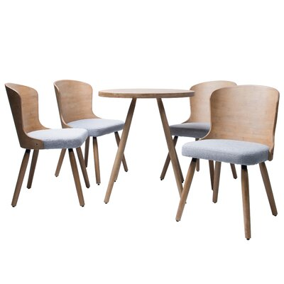 Linde 5 Piece Dining Set Color: Gray