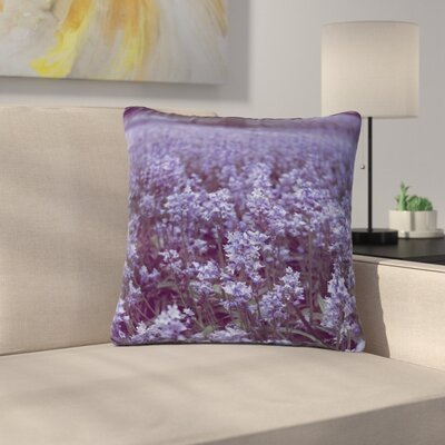 Ann Barnes Bluebell Forest Flowers Outdoor Throw Pillow Size: 16 H x 16 W x 5 D