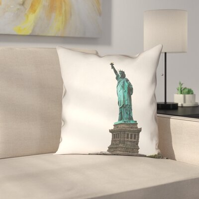 Statue of Liberty Double Sided Print Pillow Cover with Down Alternative Size: 26 x 26