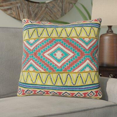 Queens Tribal Embroidery 100% Cotton Throw Pillow