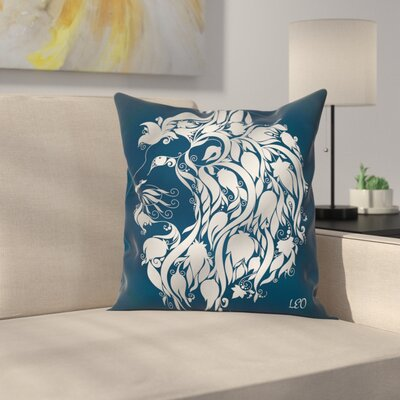 Fabric Leo Astrology Zodiac Square Pillow Cover Size: 18
