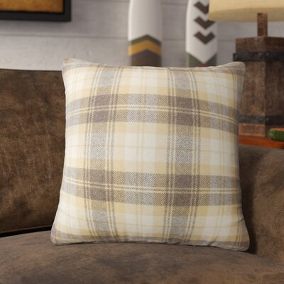 Sweeney Plaid Throw Pillow Color: Honey