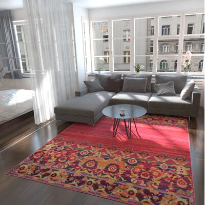 Rialto Red Area Rug Rug Size: Rectangle 106 x 165