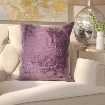 Evonne Handmade Contemporary Throw Pillow Size: 18 H x 18 W, Color: Purple