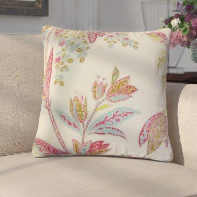 Marino Floral Linen Throw Pillow Color: Lotus