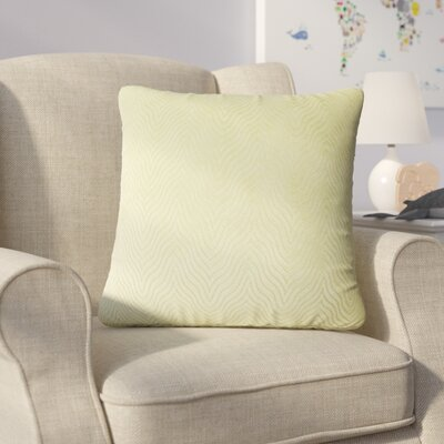 Bartle Solid Throw Pillow Color: Green