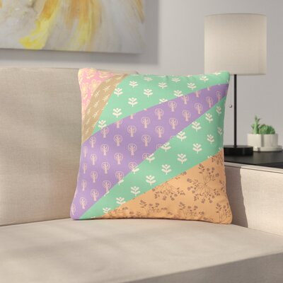 Famenxt Garden Digital Outdoor Throw Pillow Size: 18 H x 18 W x 5 D