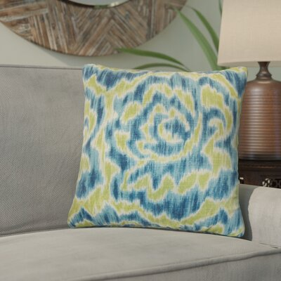 Wapan Linen Throw Pillow Color: Aqua Green