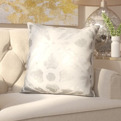 Kent Decorative Throw Pillow Color: White/Silver